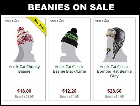 Discount arctic cat beanies for sale online