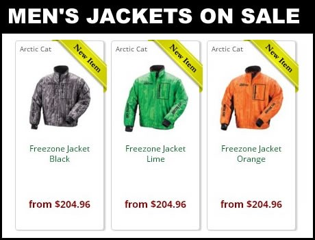 Discount Mens snowmobile jackets on sale