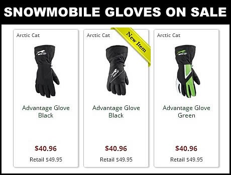 Discount Arctic Cat Snowmobile gloves for sale online mens and womans even youth available