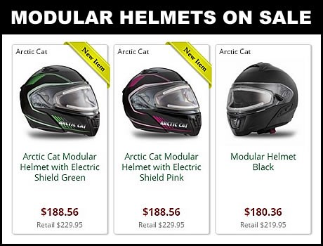 Discount Arctic Cat Snowmobile helmets for sale