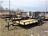 2014 BNM Trailers Angle Iron Lawn Trailer: 8216ALT7