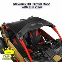 Maverick X3 Bimini roof with sunvisor