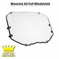 Maverick X3 Full Windshield Hard coated