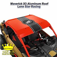 Maverick X3 Red Aluminum Roof-Lonestar Racing