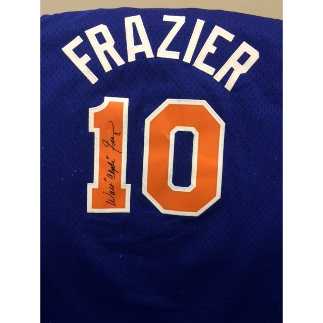 "Walt ""Clyde"" Frazier Signed New York Knicks Jersey"