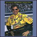 """DW Signed Pennzoil Autograph Card  8"""" x 10"""""""