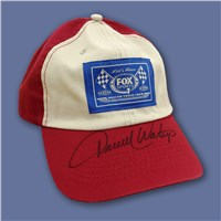 Signed FOX Sports 1 NASCAR Track Crew Hat-Red