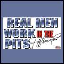 Real Men Window Cling