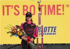 Kristen Yeley, J.J.'s wife, wins 'Better Half Dash' at Charlotte