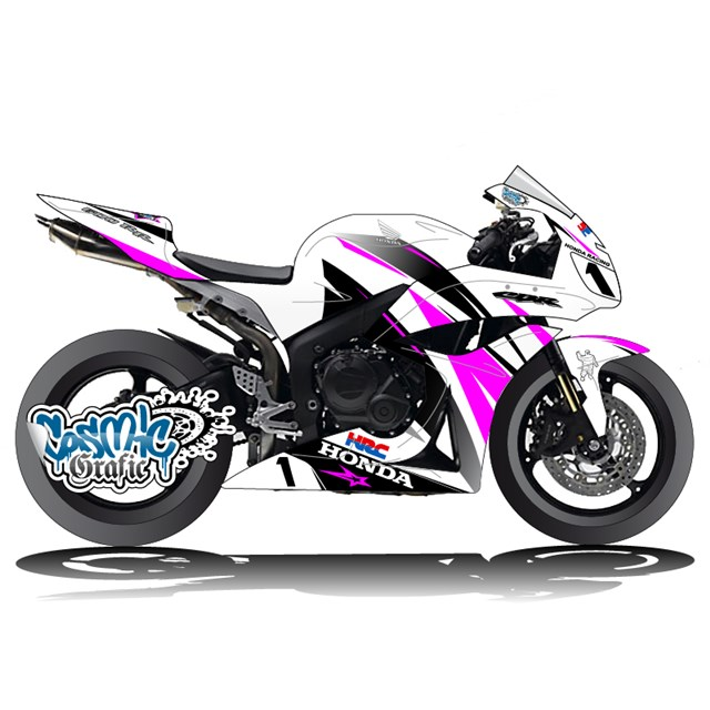 Custom graphic kit for 2008 2014 kawasaki zx 6r for Deco 600 cbr