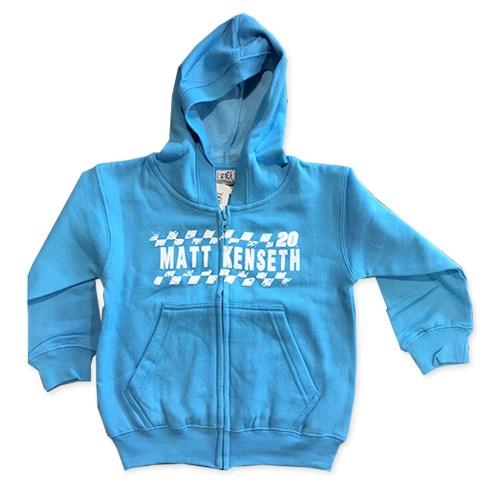 Toddler Aqua Full Zip Hoodie