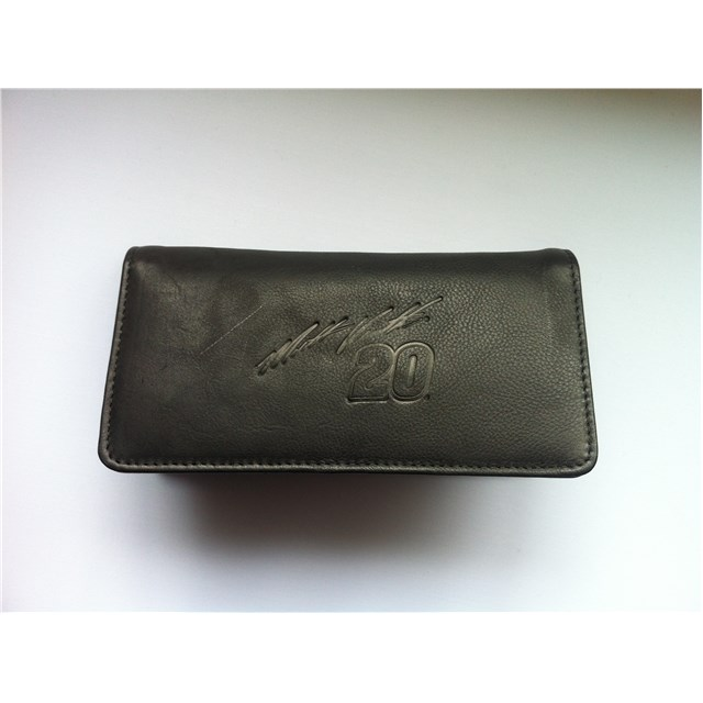 Black Embossed Leather Checkbook Cover