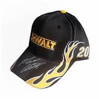 Autographed DEWALT Big Flames Hat