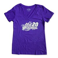 Purple Ladies V-Neck