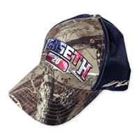 Blue Mesh Camo Hat