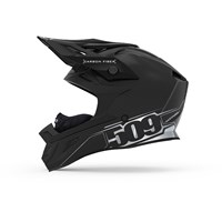 509 ALTITUDE GLOSS BLACK CARBON FIBER FIDLOCK SNOWMOBILE HELMET