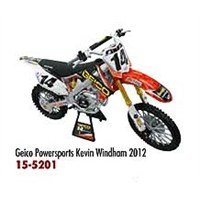 Geico Powersports Kevindham 2012 1:12 Scale Motorcycle