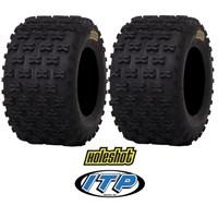 2 ITP HoleShot MXR6 MXR 6 ATV Rear Tire Set 18x10x8 Tires Kit