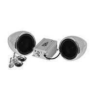 "600-Watt 3"" Speaker Kit Chrome Aux-In"