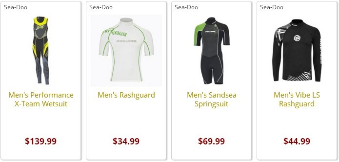 Sea-Doo Mens Wetsuits for sale