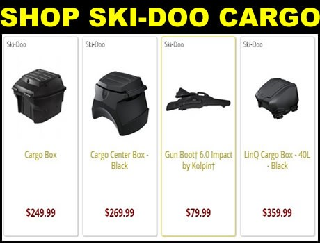 New Ski-Doo Snowmobile cargo storage  boxs for sale
