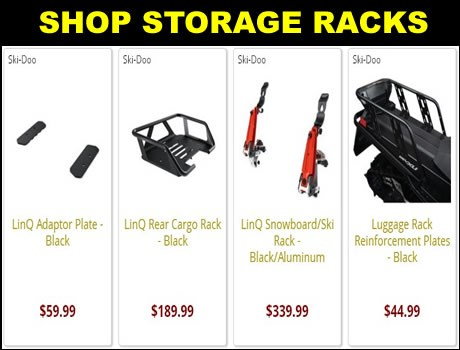 New Ski-Doo snowmobile storage racks for sale