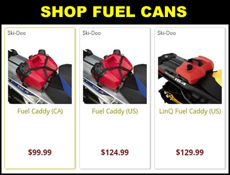 New Ski-Doo Snowmobile Fuel cans for sale