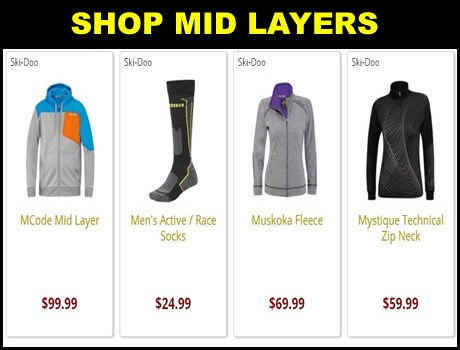 Ski Doo Mens Mid Layers for sale.