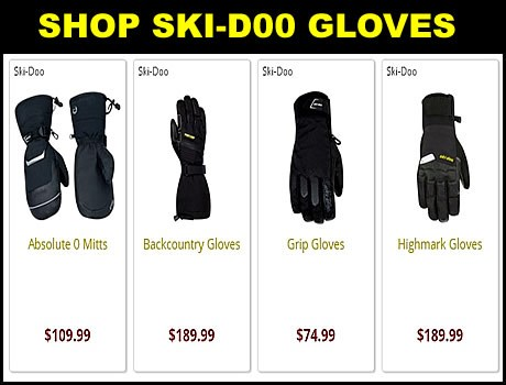 Ski-Doo Snowmobile Gloves for sale
