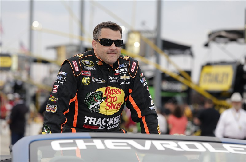 Tony Stewart During Driver Intros at the 2013 Southern 500