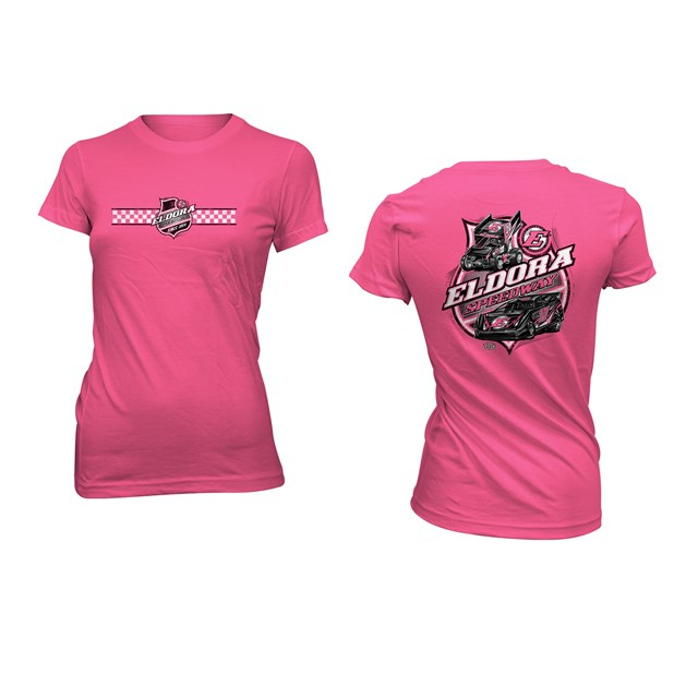 Colorless LADIES Big E Tee-Pink