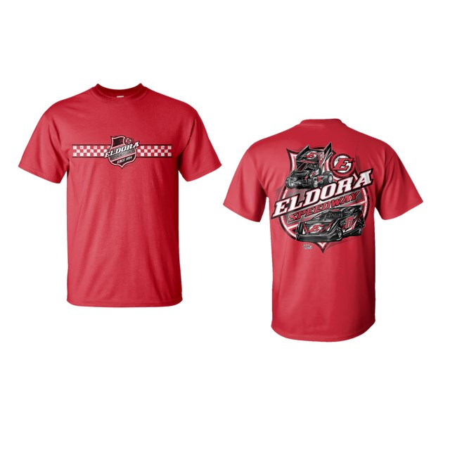 Colorless Big E Tee-RED