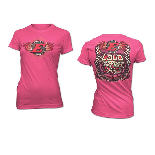 LFD LADIES TEE-WOW PINK