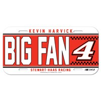 No. 4 Big Fan License Plate
