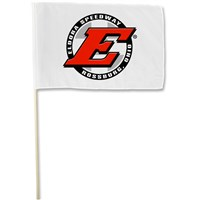 White Big E Stick Flag