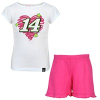 # 14 Girl's Fan Power Short/Tee Set