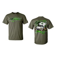 C. Bell Tee-Military Green