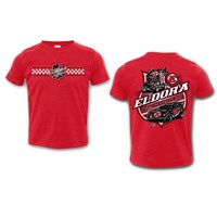 Colorless Big E TODDLER Tee-RED