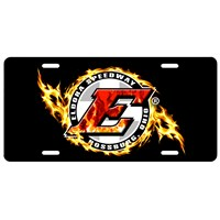 Flames License Plate