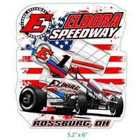 Big E Winged Sprint Decal